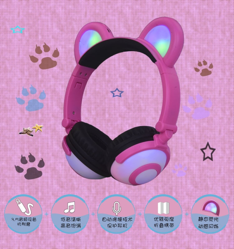 Wired Gaming Headset Deep Bass Game Earphone Computer headphones with microphone led light headphones for computer pc yijee cat ear led headphones with led flashing glowing light headset gaming earphones for pc computer and mobile phone