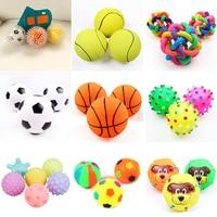 1 шт. диаметр 6 см пищащие мяч для комнатной Собаки Игрушки для маленьких собак резиновая для жевания щенками игрушка для собак Игрушки для п...