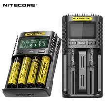 NITECORE UM4 UM2 UMS4 UMS2 SC4 Superbe Chargeur Voiture Pour Li-ion IMR LiFePO4 Ni-MH (NiCd) 18650 17650 17670 16340 21700 Batteries