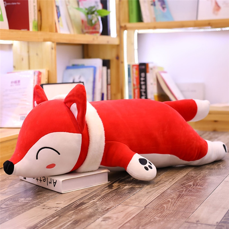 Dropshipping Kawaii zorro de peluche de dibujos animados animales de peluche muñecos suaves, juguetes Plushy muñeca cojín almohada para dormir para niños
