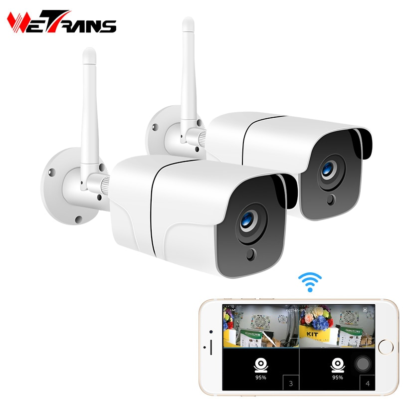 Wetrans seguridad cámara CCTV inalámbrica Sistema de 1080P HD 2CH de Audio...
