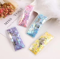 2019 new transparent pu with colorful sequin filler girls hair clips