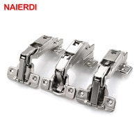 NAIERDI 175 Degree Hydraulic Buffer Hinge Rustless Iron Buffer Soft Close Cabinet Cupboard Door Hinges For Furniture Hinge