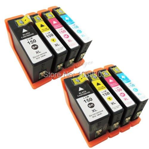 8 inkjet de tinta multi-pacote compatível para lexmark 150 150xl s415 s515 pro 715 pro 915