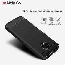 Für Motorola G6 Plus Luxus Carbon Faser Ultra Dünne Silikon TPU Rückseitige Abdeckung Für Moto G7 G5 G5S Plus Weichen anti-knock Coque Fundas