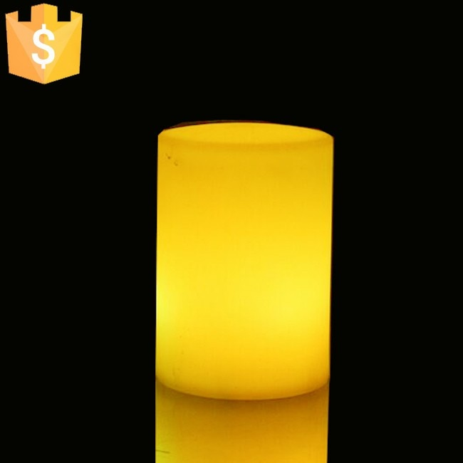 D10xH15cm LED RGBW PE Cylindrical Night Light With 24 keys remote control for Hotel Free shipping 2pcs/Lot enlarge