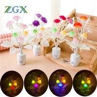 Светодиодный сиреневый ночник для детей, ночник в форме гриба, хорошее освещение для снов, Романтический Красочный светильник 7 цветов, вилк...