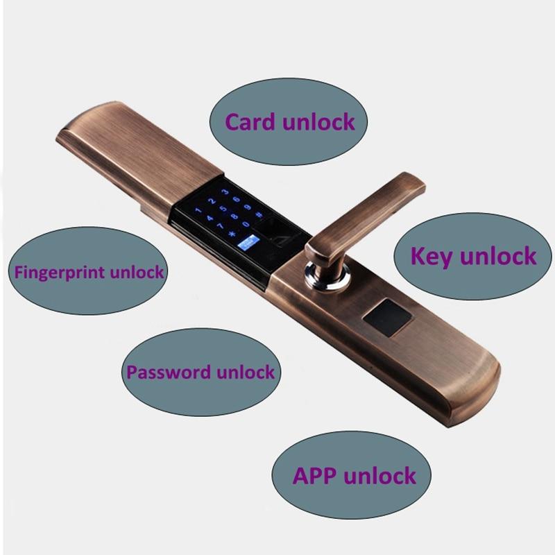 Security Smart Fingerprint Lock Digital Electronic Door Lock For Home Anti-theft Intelligent Lock Password RFID Card