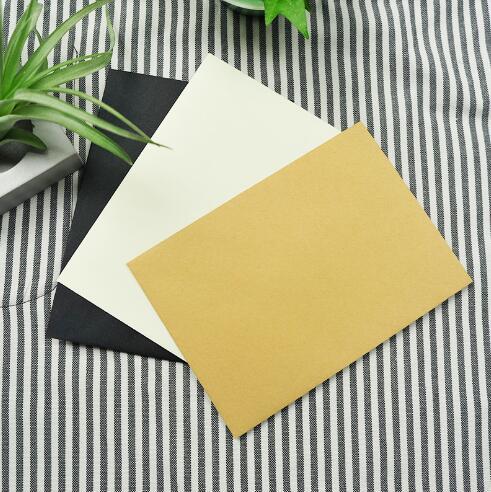 50 unidades/lote de sobres de papel artesanal blanco y negro, sobre de estilo europeo Vintage para tarjetas, regalo para álbumes de recortes
