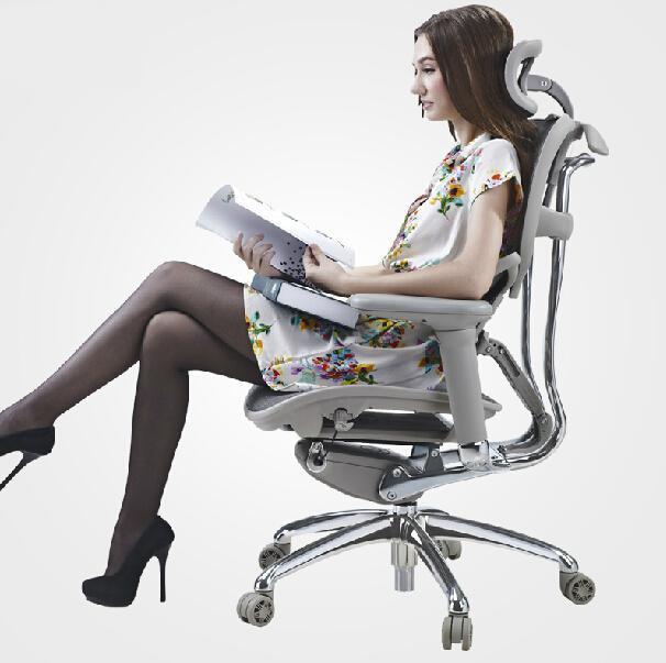 Эргономичные компьютерные высокие сетчатые стулья офисные, комфортные поясные инженерные кресла