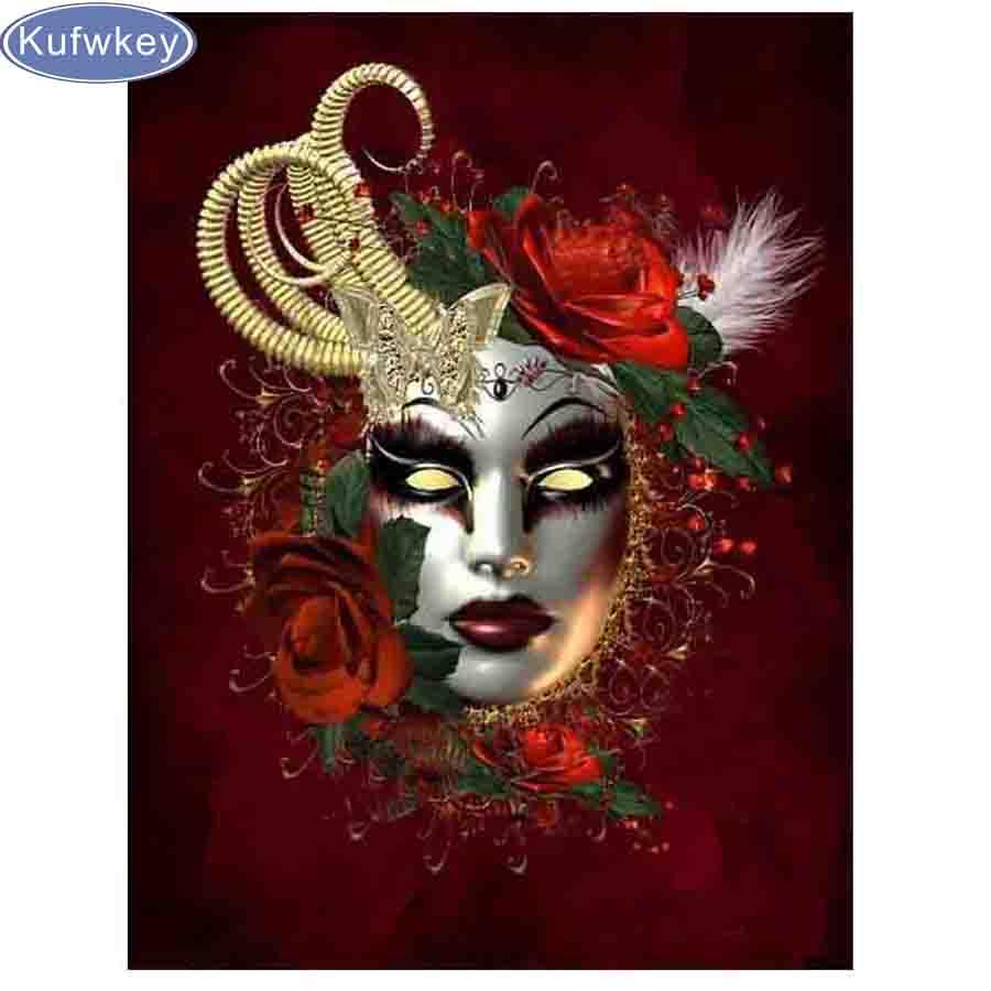New arrival DIY Diamond Painting Mask beauty/lady/girl/fairy Full Square/round Diamond Embroidery Diamond Mosaic 5d decor home