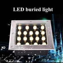 Lumière souterraine carrée de 9 W 12 W 16 W éclairage extérieur étanche à LED