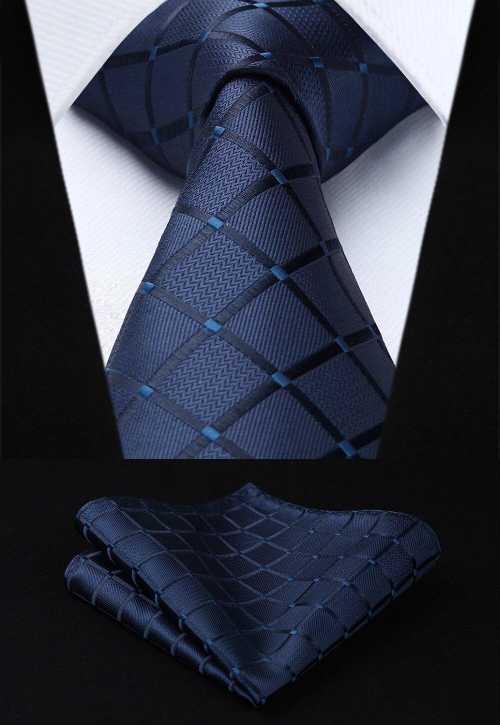 "Dot compruebe a rayas nuevo 3,4 ""100% de seda para boda Jacquard tejido para hombre corbata bolsillo cuadrado pañuelo conjunto # I1"