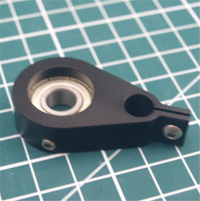 1 Uds Anet A8 de aluminio anodizado negro metal Anti Z Wobble para Anet A8 con 608 rodamiento Z superior titular Anti Z-Wobbel