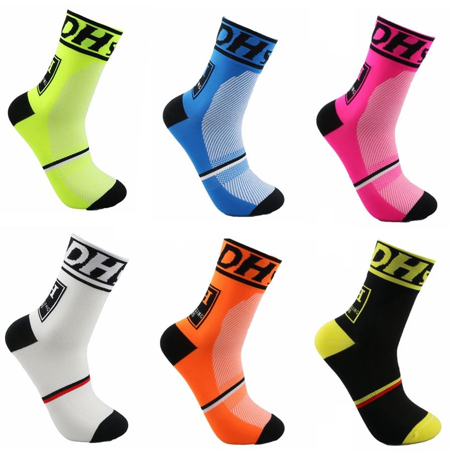 DH Спортивные Новые велосипедные носки, высокое качество, профессиональные брендовые дышащие спортивные носки, велосипедные носки, уличные ...