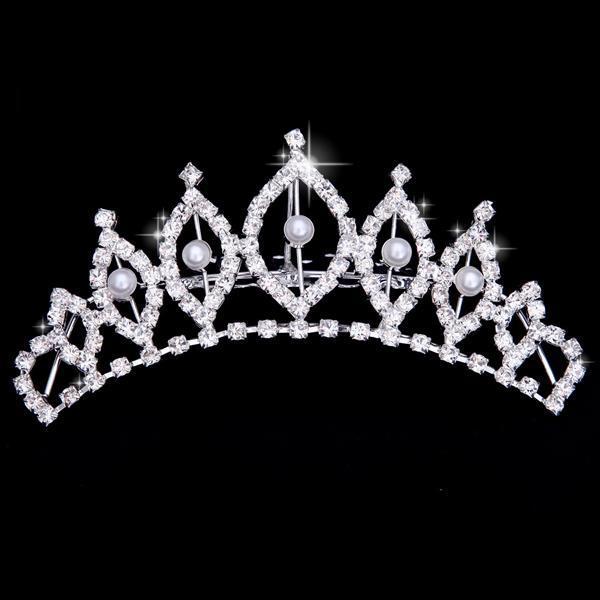 Tiaras de cristal de princesa y corona diadema Chico, niñas, amor, corona nupcial, accesorios para fiestas de boda, joyería para el cabello