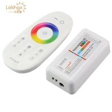 DC12V-24V 2,4G pantalla táctil LED RGB regulable inalámbrico remoto RF RGBW Controlador Led 6A 4 canales para 5050 3528 5630 tira de led
