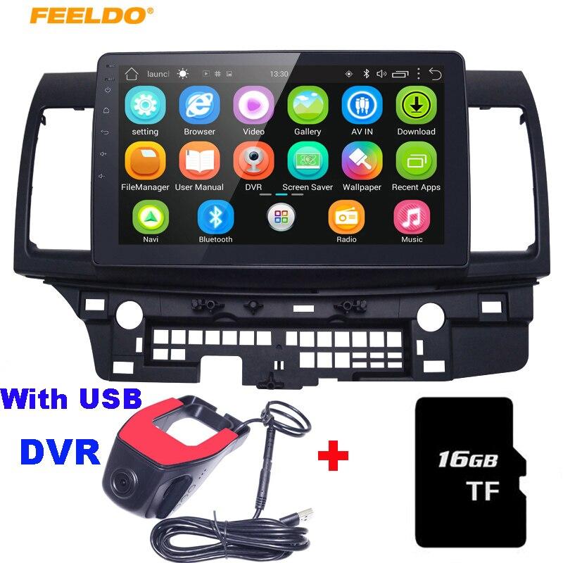 "FEELDO 10,2 ""Android 6,0 Quad Core GPS para coche reproductor estéreo para Mitsubishi Lancer EX navi navegador radio Unidad de navi 1024*600"