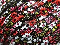 pu leather ethnic cord stitched ethnic flower leather wrap cord