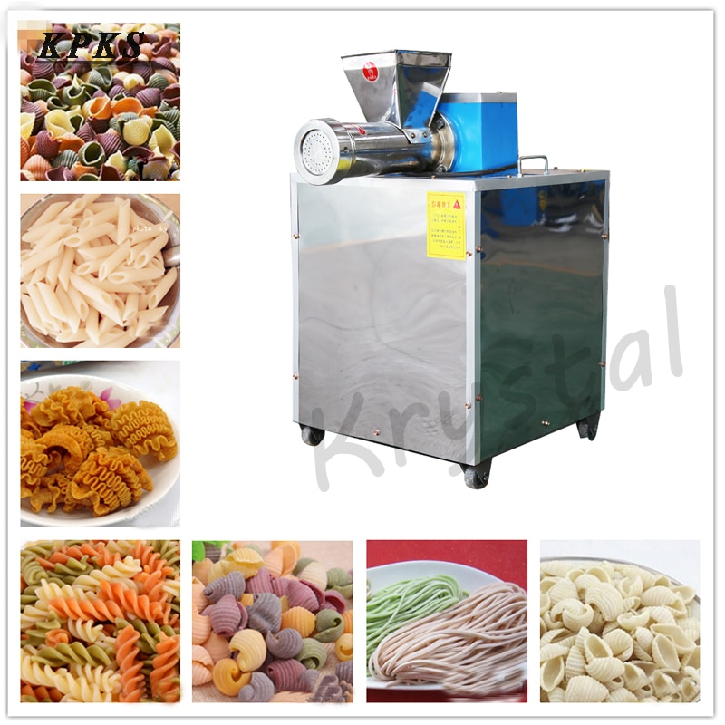 Automatic Pasta Machine Commercial Noodle Machine Pressing Pasta Extruder Stainless Steel Noodle Maker With 3 Molds Model 60 stainless steel 2 blades pasta making machine manual noodle maker hand operated spaghetti pasta cutter noodle hanger