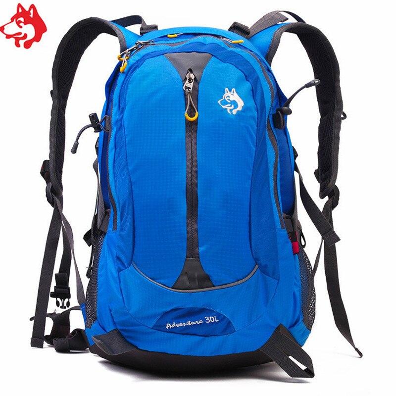 30L Blue/Orange/Green mens adventure backpack mochila outdoor china sports women hiking mountain climbing backpack