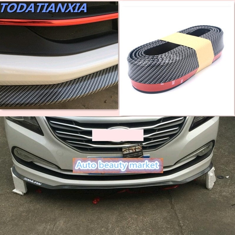 Kit de labios de parachoques delantero del coche de la fibra de carbono caliente 2018 para el amuleto de chery tiggo 3 5 2016 A3 QQ A5 A1 a13 E5 para gran pared/lifan/byd