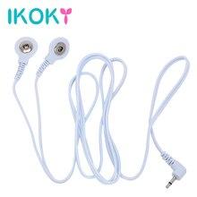 IKOKY électro Stimulation électrique choc fil choc Conversion ligne 2 tête boucle ligne 1 thérapie masseur accessoires Sex Toys