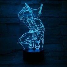 De dibujos animados figura de deadpool de luz de la noche LED USB 3D de mesa decorativa Lámpara USB Multicolor fiesta en casa dormitorio luz nocturna para niños regalos