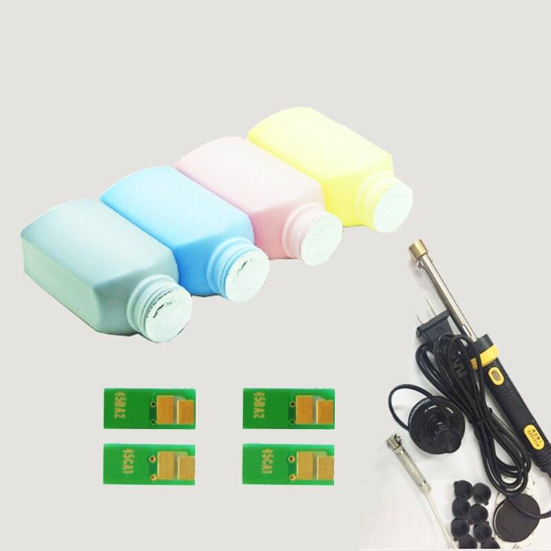 Vilaxh CRG045 4 pcs Chip + Toner cartridge Refill tool kit + Toner Powder For Canon MF635CX MF633CNW MF631CN LBP613CDW printer