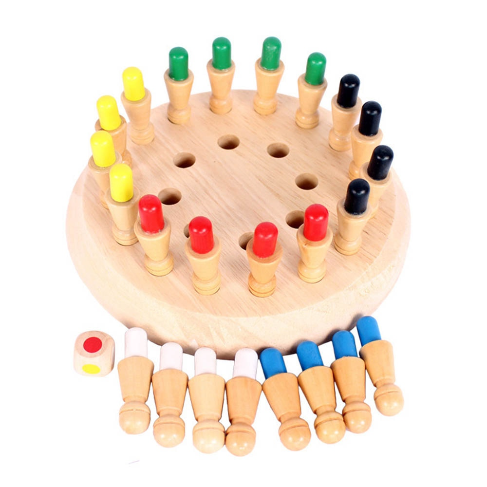Kinder Holz Speicher Schach Stick Bord Spiel Bunte Hanoi Turm Logic Puzzle Kinder Kognitiven Pädagogisches Spielzeug