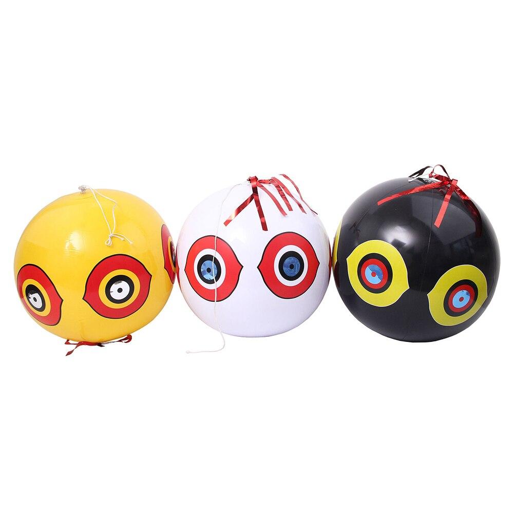 Anti-pájaro repelente inflable asustar ojo globos caza controlador de plagas rápido fiable disuasivo Visual granja Orchard Protector