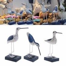 Oiseaux de mer en bois de Style méditerranéen   Sculpture, artisanat de décoration pour la maison