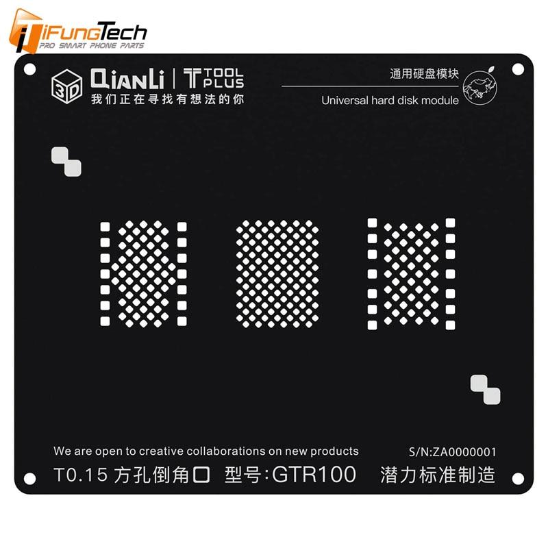 Disco Duro UNIVERSAL QIANLI TOOLPLUS 3D IBLACK modelo GTR100 reparación BGA plantilla negra para 6/6 S/7/8