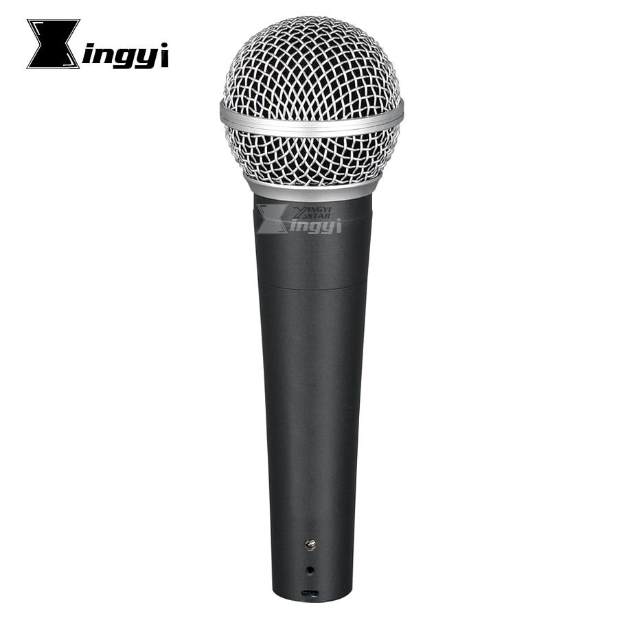 Micrófono dinámico cardioide SM58S SM58LC, accesorio profesional de mano con bobina móvil...