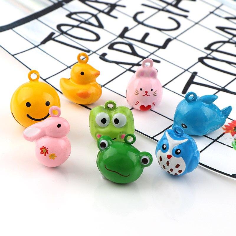 Металлические Мини-колокольчики в виде кота, рыбы, утки, зайца, колокольчики, свободные шарики, украшения для вечеринки, колокольчики для домашних животных, аксессуары для рукоделия