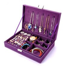 New 1pcs Wooden Jewelry Box Large,Rings Earrings Storage Jewelry Box Best Gift,Necklace Bracelet Storage Box Jewelry Store