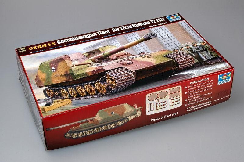 Trompetista modelo 00378 1/35 alemão geschutzwagen tigre pele 17cm k72 tanque modelo kit