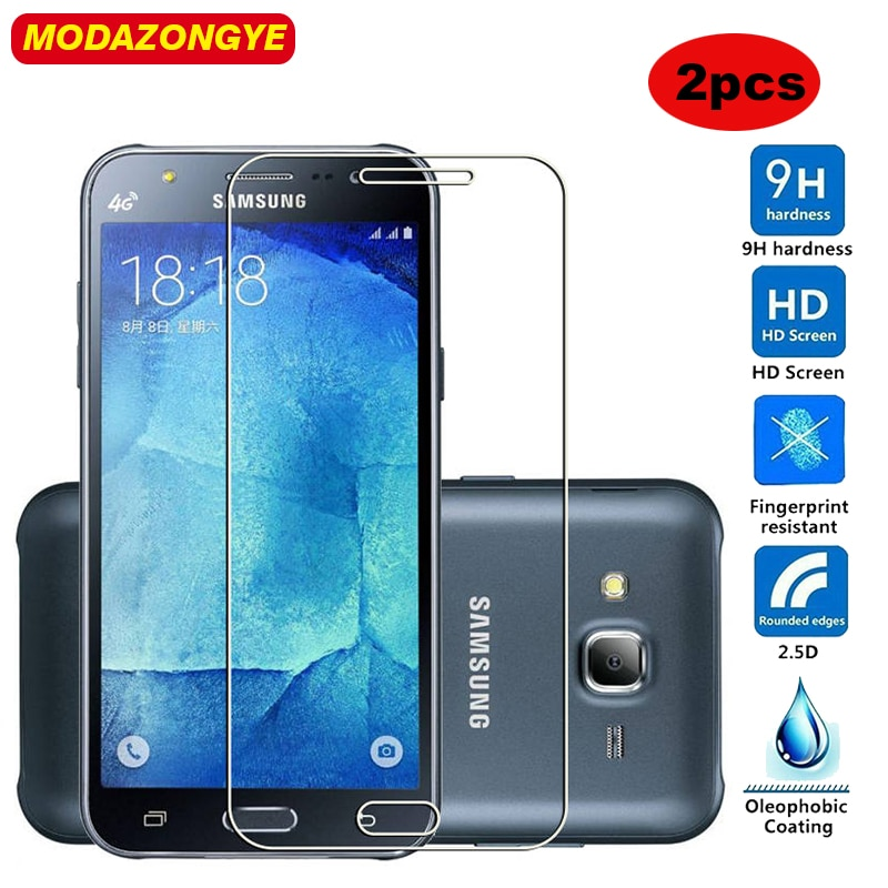 2 piezas de vidrio templado para Samsung Galaxy J5 2015 Protector de pantalla Samsung J5 2015 J500 J500F SM-J500H SM-J500F J500H de vidrio película
