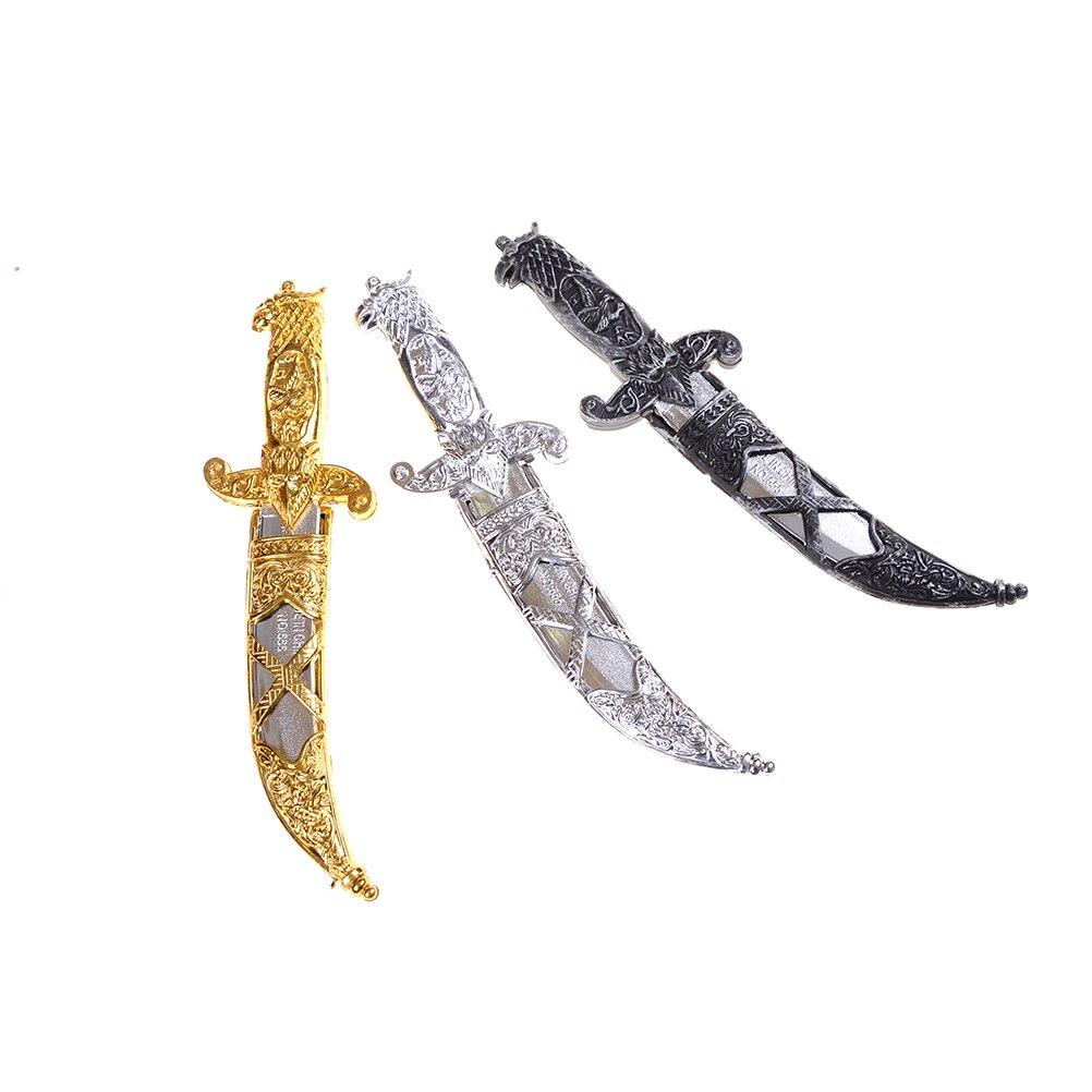 Espadas de plástico 7-B suministros para fiestas de Halloween juguete espada Armas pequeñas Phoenix cuchillo juguete piratas daga para niños 1pc 22*6 Cm Unisex