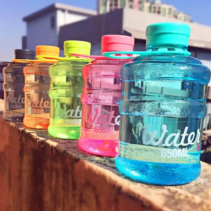 Botella de agua Mineral sin bpa, cubo de agua pura para acampar, deportes al aire libre, Botella Plegable, 650ml, 2 unids/lote