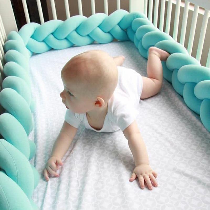 Бампер для детской кровати, бамперы для детской кроватки, плетеные узелковые подушки, детские диванные подушки, детские постельные принадл...