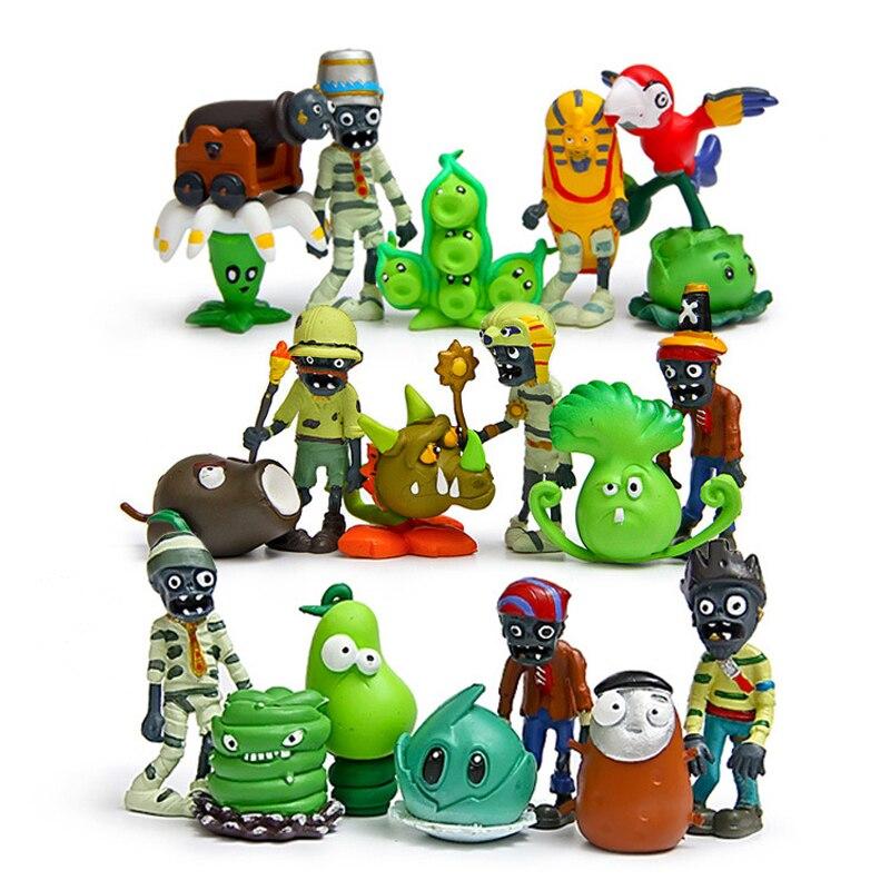 Plantas vs Zombies 2 ya es hora de que figuras de PVC juguetes plantas PVZ y Zombies acción figura colección modelo de juguete muñecas 20 unids/lote