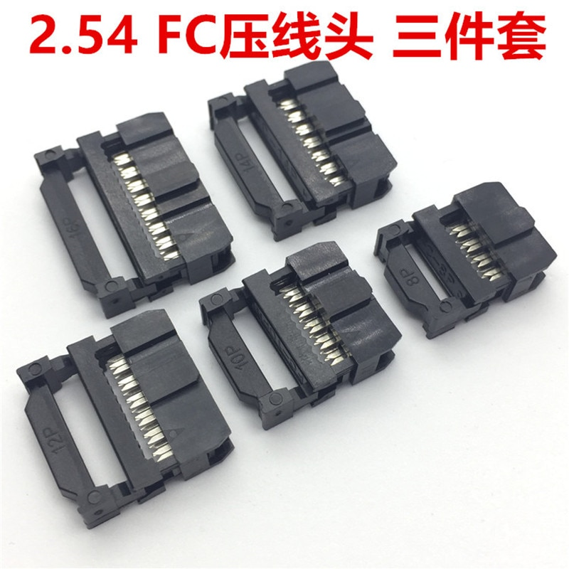 10set FC-6P FC-8P FC-10P FC-14P FC-16P Zu FC-40P IDC Buchse 2x5 Pin Dual Reihe Pitch 2,54mm IDC Stecker 10-pin kabel buchse