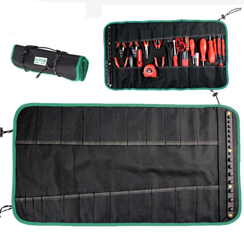 Laoa 600d oxford pano rolamento ferramenta saco portátil chaves de fenda toolkit anti abrasão à prova chuva mini alicate eletricista workbag