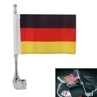 1 шт. для Honda GoldWing GL1800 GL1500 2001-12 мотоциклетные Германия Флаг Боковое крепление багажная стойка антенна вертикальный флагшток