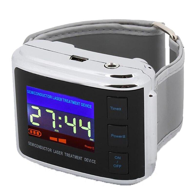 ساعة ليزر للعناية بالصحة وضغط الدم المرتفع ، شحن مجاني, جهاز تدليك بطنين الأذن ، تخفيف آلام الأذن ، متعدد الاستخدامات