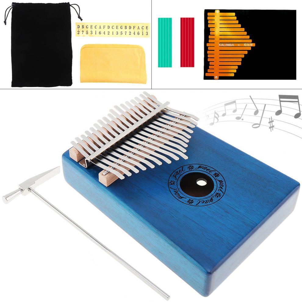 17 chave de alta qualidade portátil kalimba única placa mogno polegar piano mbira natural mini teclado acessórios do instrumento