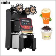 Xeoleo complètement automatique tasse cachetage machine bulle thé machine tasse scellant pour 90/95/98mm PP/PET/papier tasses 220V/110V personnalisable