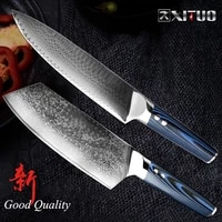 xituo damascus chefs knives high carbon vg10 japanese damascus kitchen knife gyuto nakiri cleaver blue g10 handle accessories