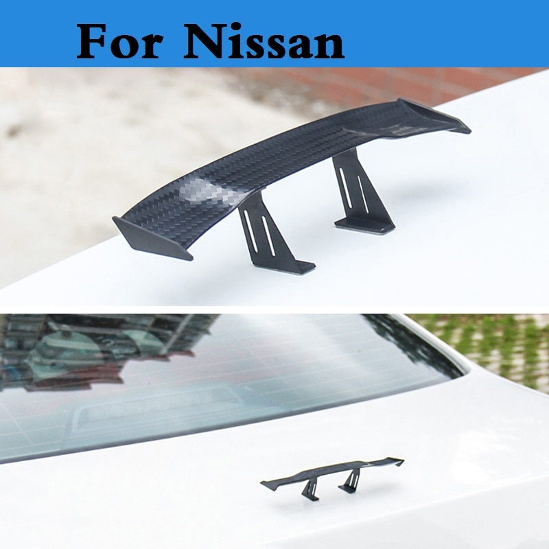 Nuevo alerón de coche con estilo 2019, Mini pegatina trasera para Nissan 350z 370z Ad Almera Classic Altima Armada Avenir Juke Nismo